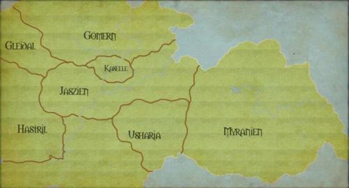 Landkarte Sirana - Versuch 1
